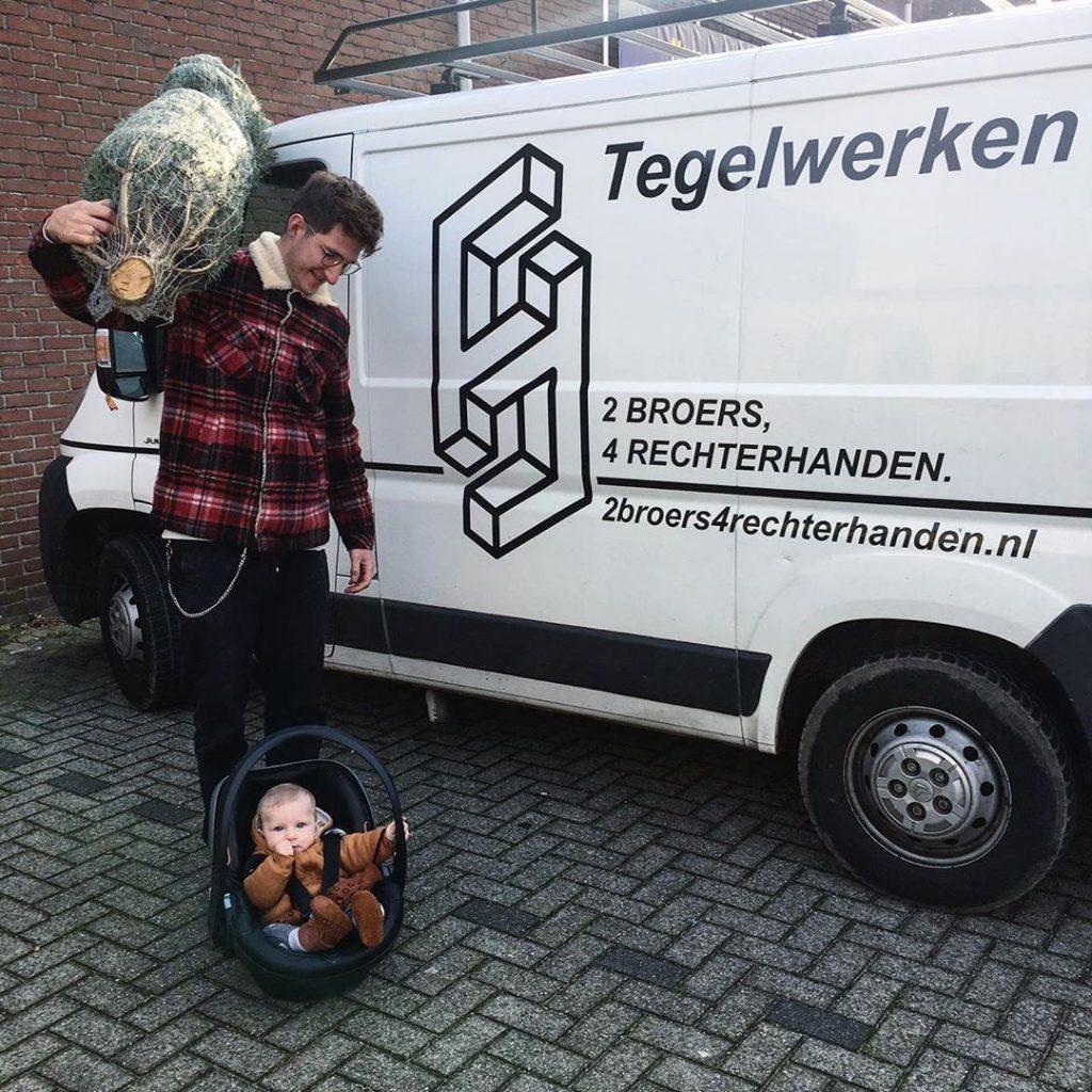 Tegelzetter Eindhoven Fred met zoon